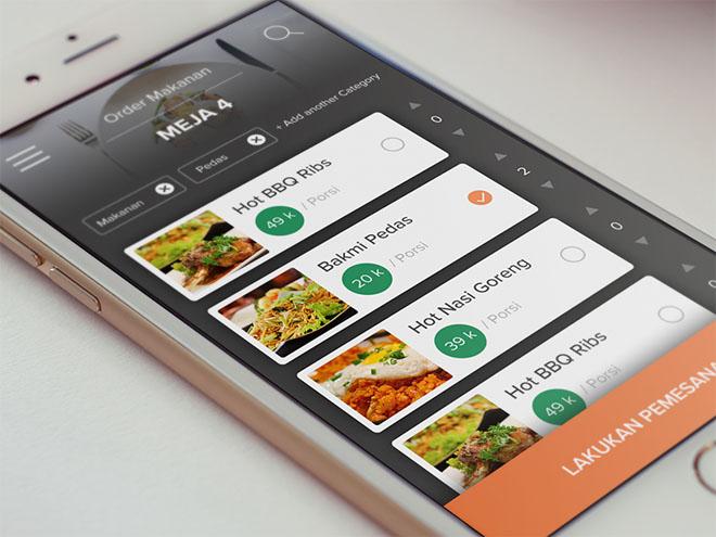 Pesan Makan : Restaurant App UI PSD
