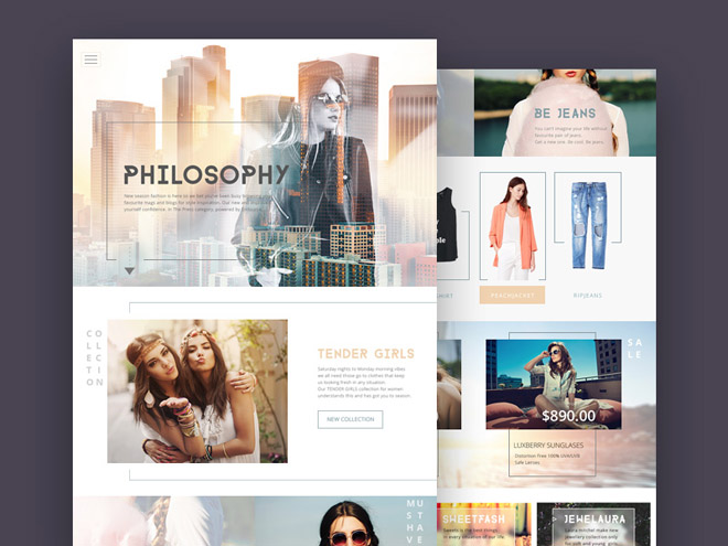 Free fashion ecommerce psd template