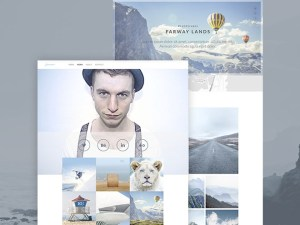 Freelance Photographer PSD Website Template