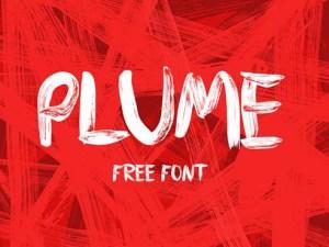 Plume - Free Brush Typeface