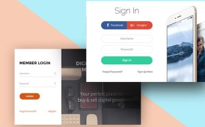 Sign Up and Sign In Forms (PSD)