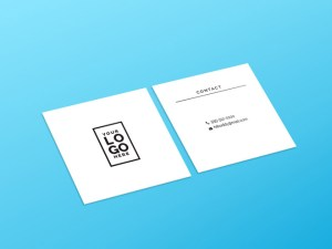 Free Square Business Card Mockup PSD