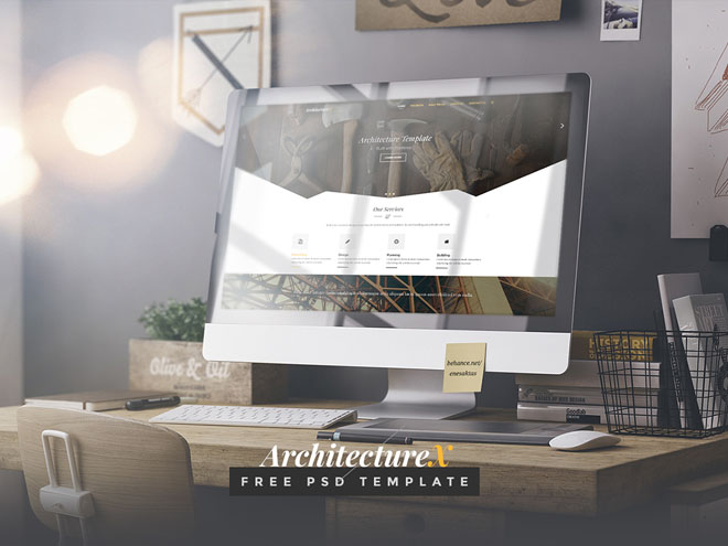 Free Architecture PSD Template