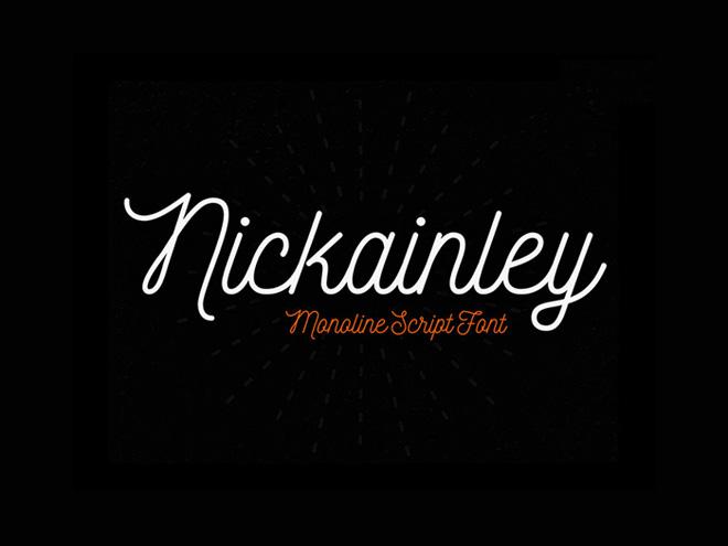 Nickainley : Free Monoline Script Font
