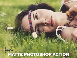 Free Photoshop Action for Warm Matte Effect