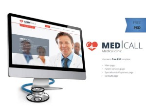 Free Medical PSD Website Template