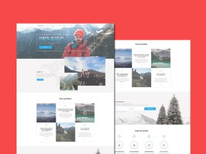 Mountains : Free Travel Landing Page PSD Template