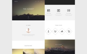 Sunset : Free Portfolio PSD Template