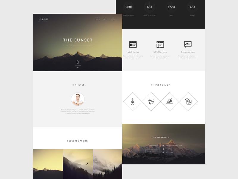 Sunset : Free Portfolio PSD Template
