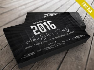 New Years Party Invitation Card Template