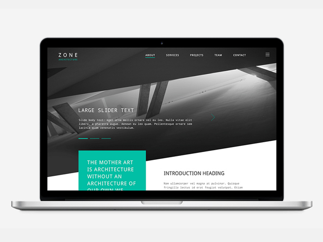 Zone : Free Architects PSD Template