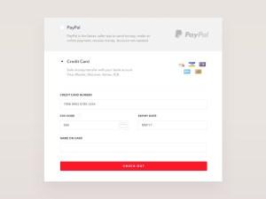 Credit Card Checkout Widget PSD