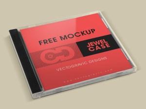 Free CD Album Cover Mockup PSD