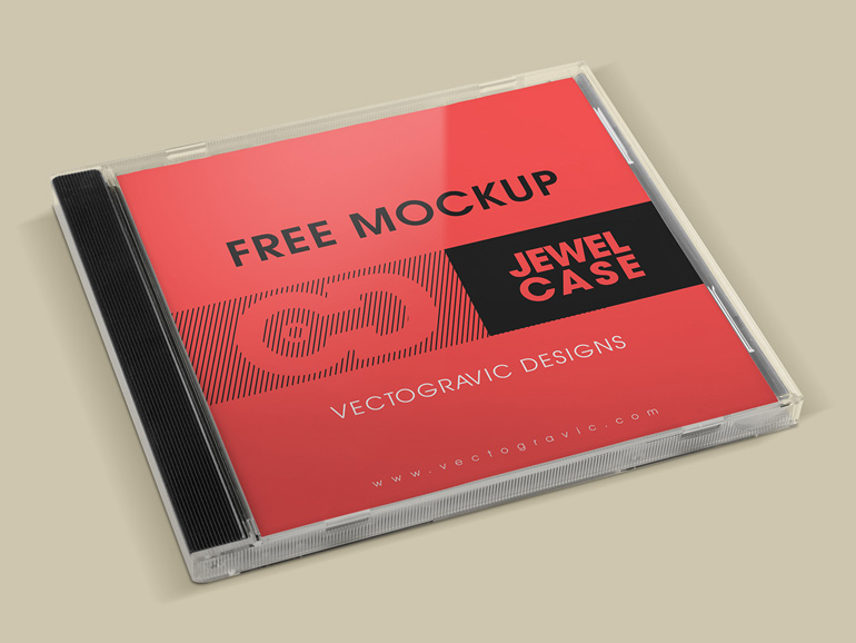 Free CD Album Cover Mockup PSD