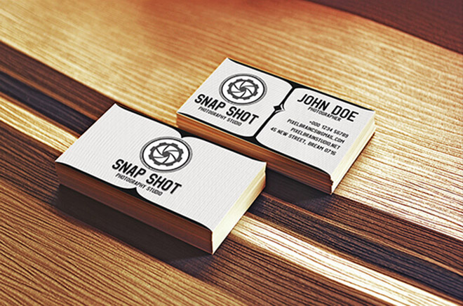 Free Retro Photography Business Card Template