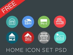 Free Real Estate Icon Set PSD