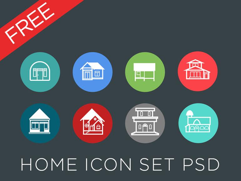 Free Real Estate Icon Set PSD