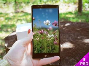 Free LG G3 Mockup PSD