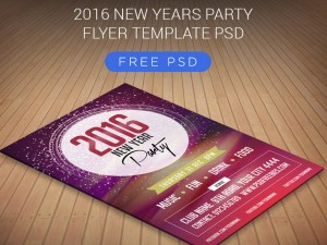 Free New Years Party Flyer Template