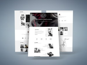 Pouseidon : Model Agency PSD Template