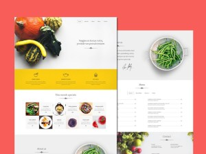 Veggie : Food Related PSD Template