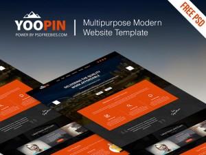 YooPin : Free Modern Multipurpose PSD Template