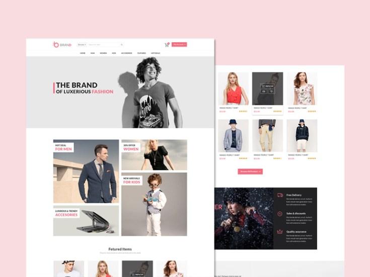Brand : Free Fashion Ecommerce PSD Template
