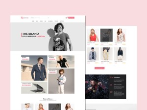 Brand : Free Fashion Ecommerce PSD Template