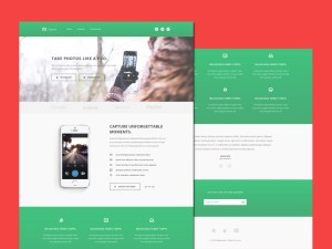 Capture – Free Bootstrap Landing Page Template