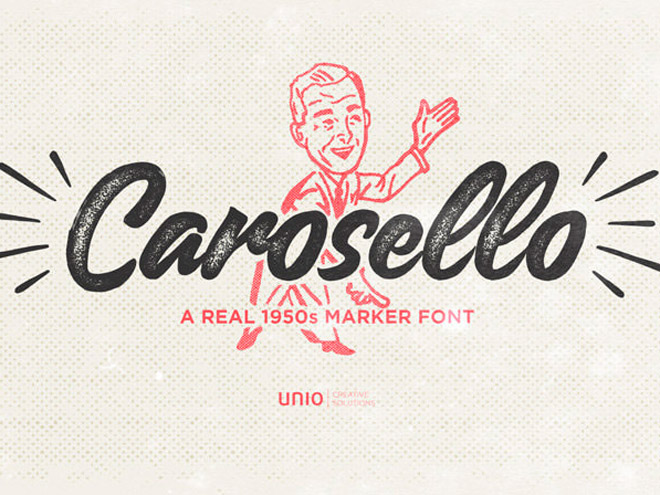 Carosello : Free Vintage Typeface