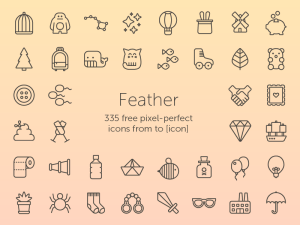 Feather: 335 Free Lightweight Icons