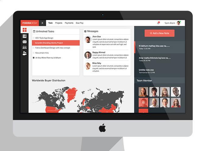 Fokira Desh: Free Dashboard UI PSD Template