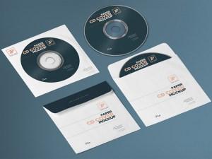 Free Paper CD Cover Mockup