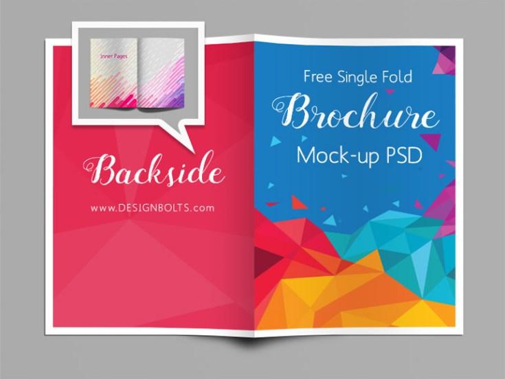 Free Bi-Fold A4 Brochure Mockup PSD