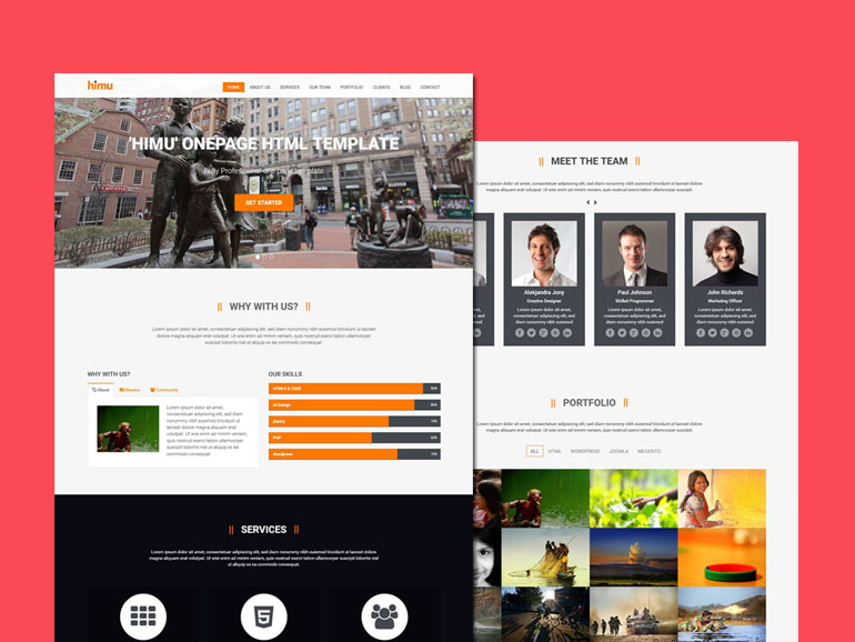 Himu - Free One Page Bootstrap Template