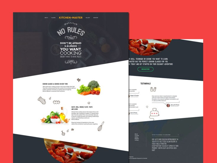 Kitchen Master - Free Cooking PSD Template