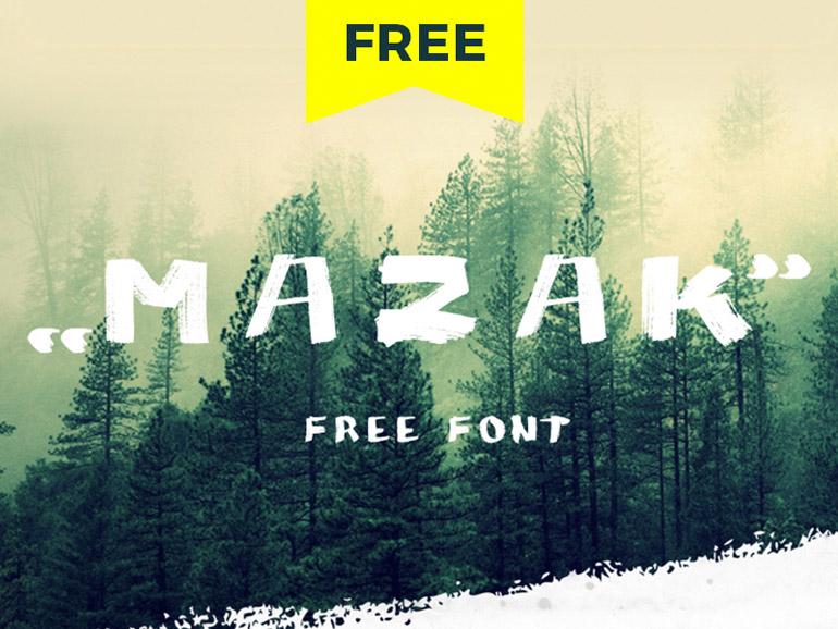 Mazak Free Hand Drawn Typeface