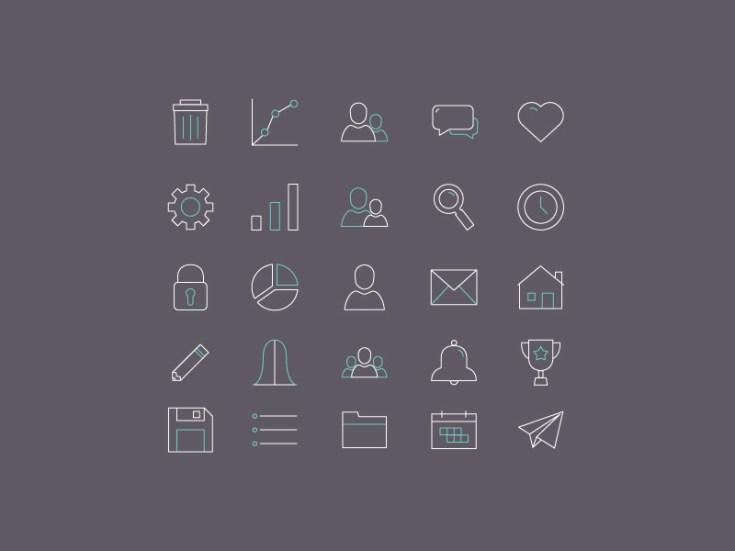 Free Minimal Line Icons