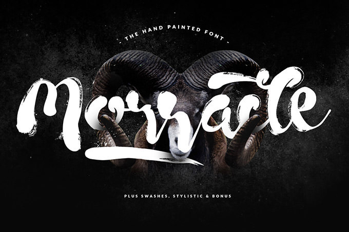Morracle : Free Hand Painted Font