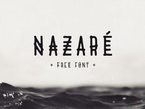 Nazaré free Uppercase font