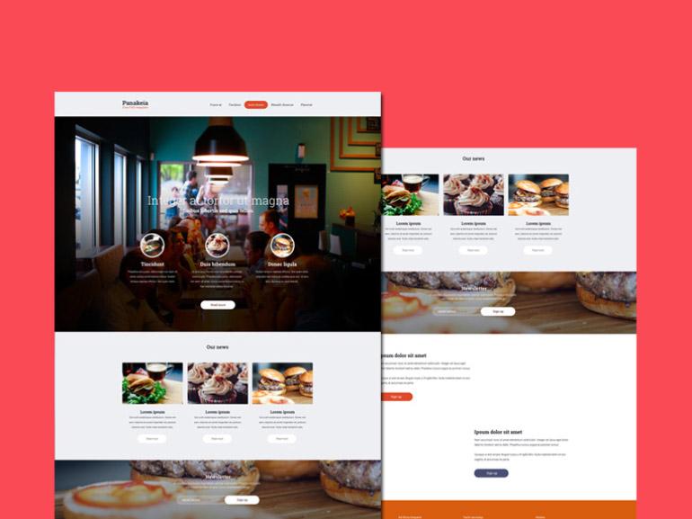 Panakeia : Free Restaurant PSD Template