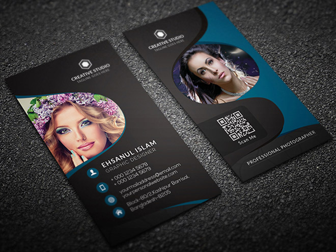 Free vertical photography business card template free download free vertical photography business card template cheaphphosting Choice Image