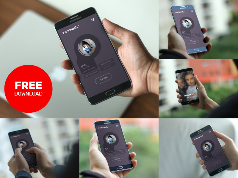 Free Android Smartphone PSD Mockup