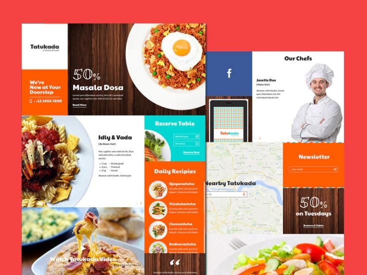 Tatukada : Free Restaurant PSD Template