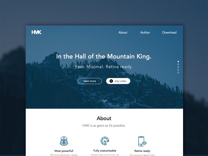 HMK : Free Sketch Website Template