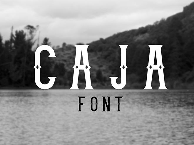 Caja Free Retro Font