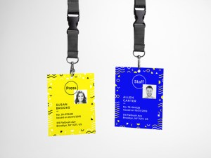 Free ID Card mockup psd
