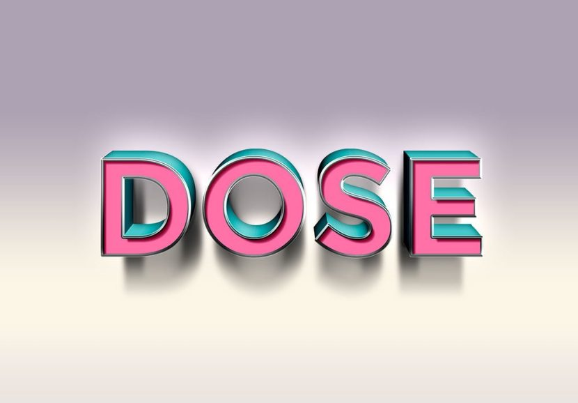 3D Dose Text Effect