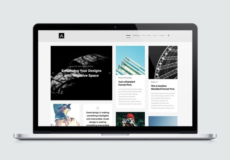 Abstract : Mansory Blog Website Template