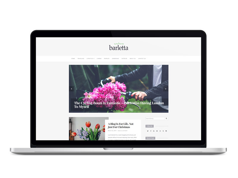 Barletta : Simple Blogging WordPress Theme